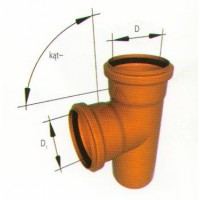 Тройник прямой ПВХ для наружной канализации