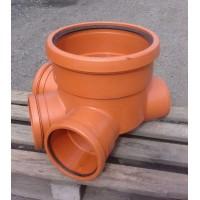 Основания канализационных колодцев для гладких ПВХ труб с двумя  притоками