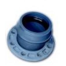 Патрубок раструб ПВХ Н РК с металлическим фланцем