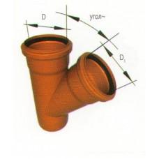 Тройник косой ПВХ для наружной канализации