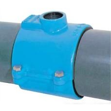 Хомутовый отвод с резьбой для труб из ПЭ и ПВХ