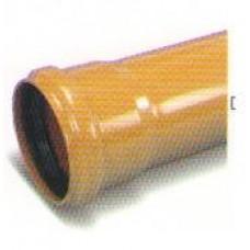 Наружная труба ПВХ для канализации, рыжая