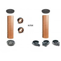Wavin Комплект колодца (люк ПП 1,5т, гофр. труба, основание или днище с двумя муфтами in situ)