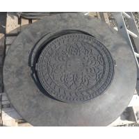 Черные  ПНД Люки для гофрированных шахтных труб 800