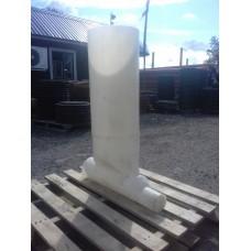 Колодец монолитный пластиковый с крышкой