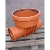 Основания канализационных колодцев для гладких ПВХ труб проходные