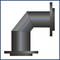 Отвод ПНД сегментный офланцованный