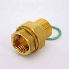 Латунное разъемное соединение труб