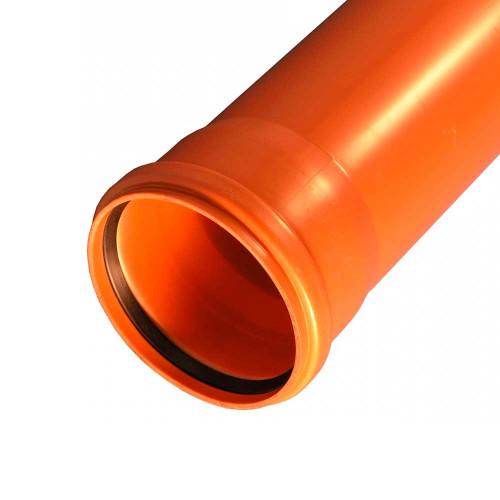 Труба ПВХ для канализации наружная, рыжая, для внешней канализации - купить  в СПб